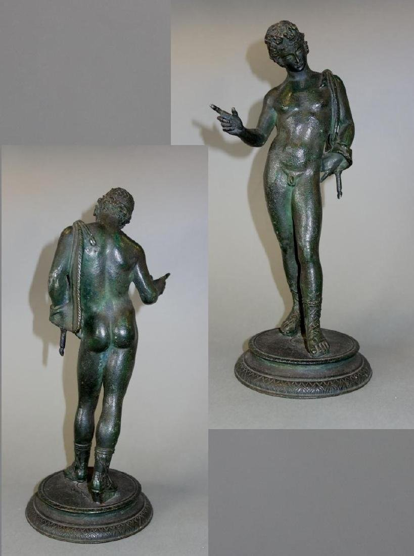19thc Bronze Model of Narcissus, Male Nude