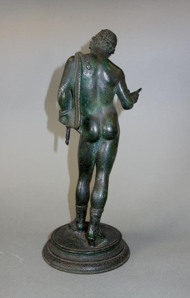 19thc Bronze Model of Narcissus, Male Nude - 3