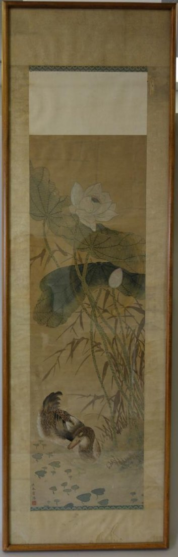Fine Japanese Scroll Painting, Signed - 2