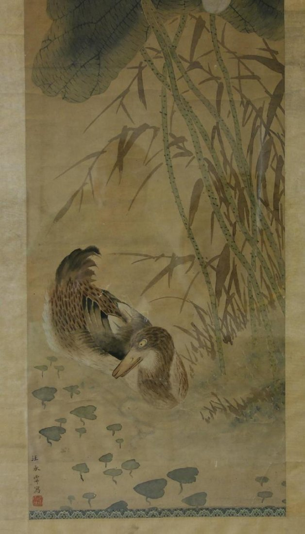 Fine Japanese Scroll Painting, Signed - 4