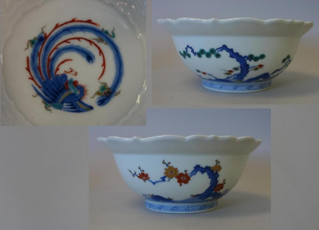Fine Japanese Kakiemon Enameled Bowl, Signed