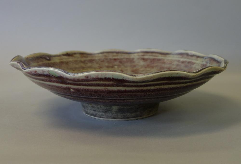 Japanese Porcelain Scalloped Bowl, Signed - 3