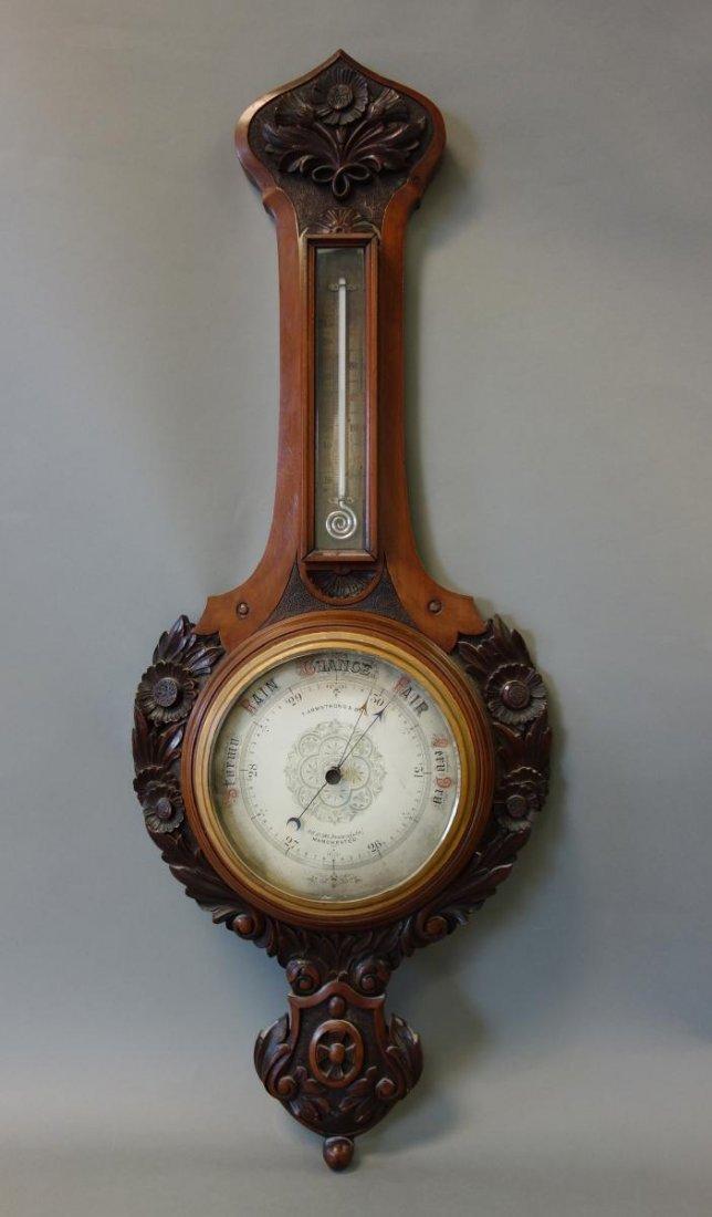 19thc English Barometer, Thomas Armstrong & Bro