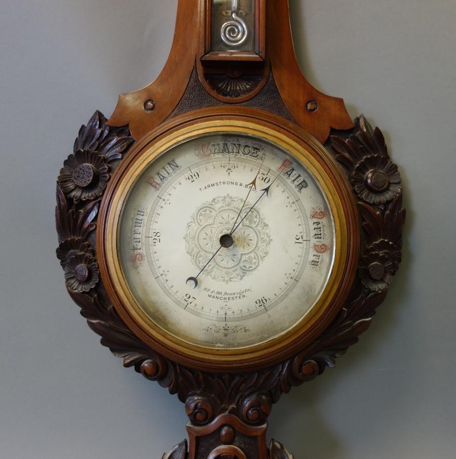 19thc English Barometer, Thomas Armstrong & Bro - 3