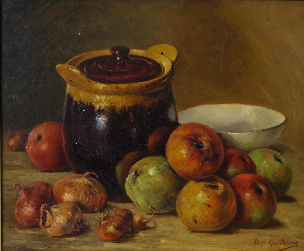 Henri Guillaume (France 19thc) Still Life