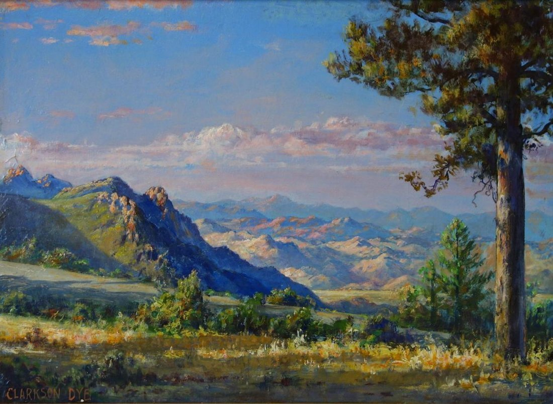 Clarkson Dye (1869-1955) Rim of the Desert