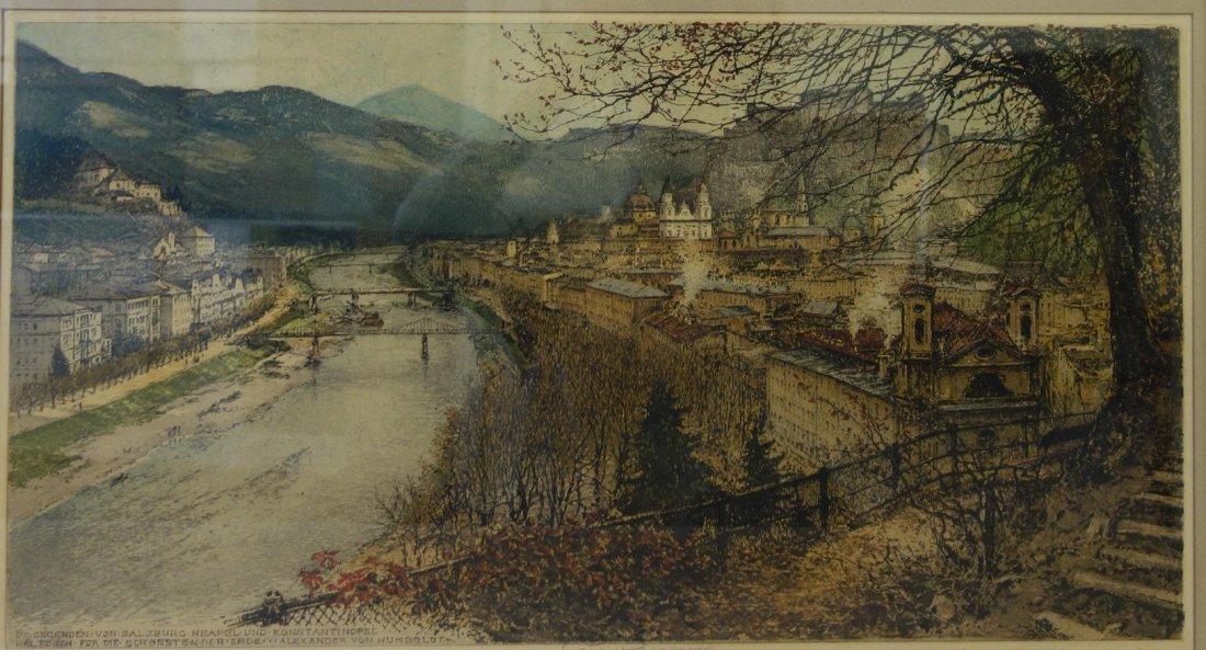 Luigi Kasimir (1881-1962) Salzburg, A City View
