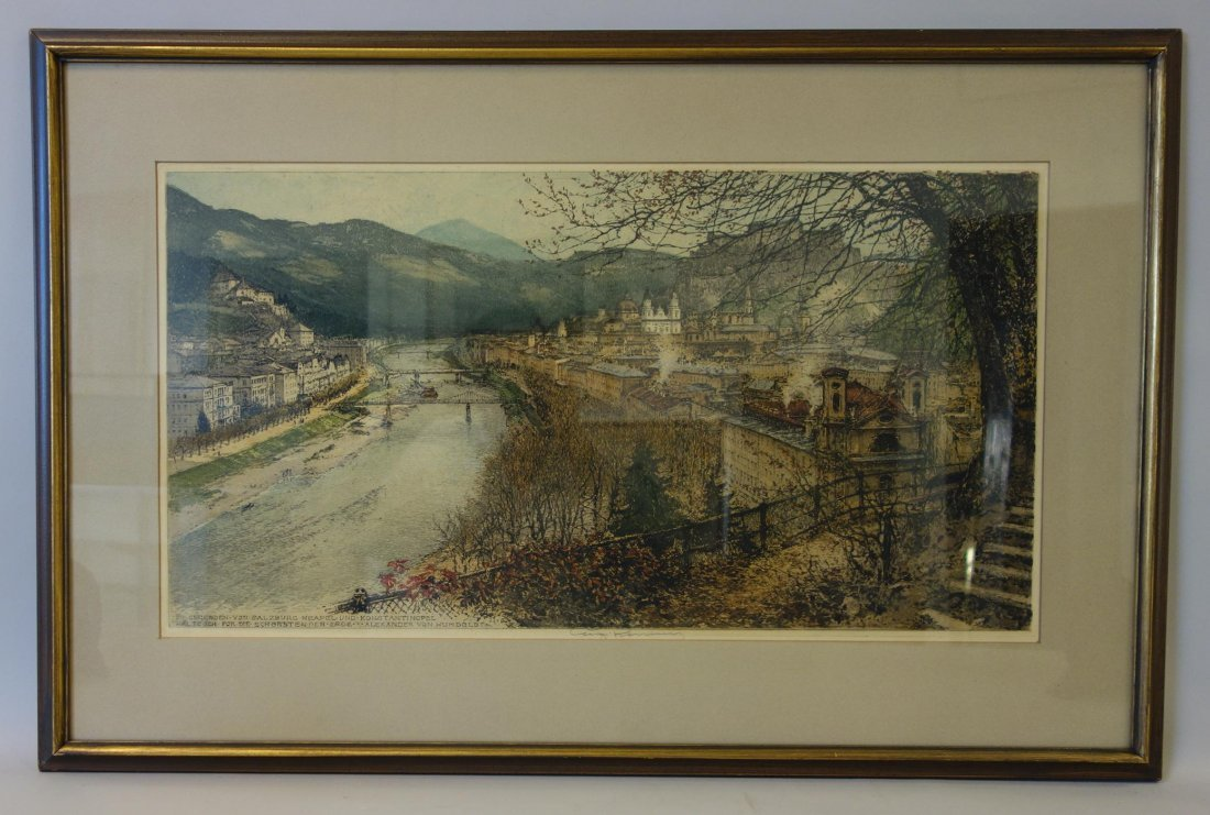 Luigi Kasimir (1881-1962) Salzburg, A City View - 2