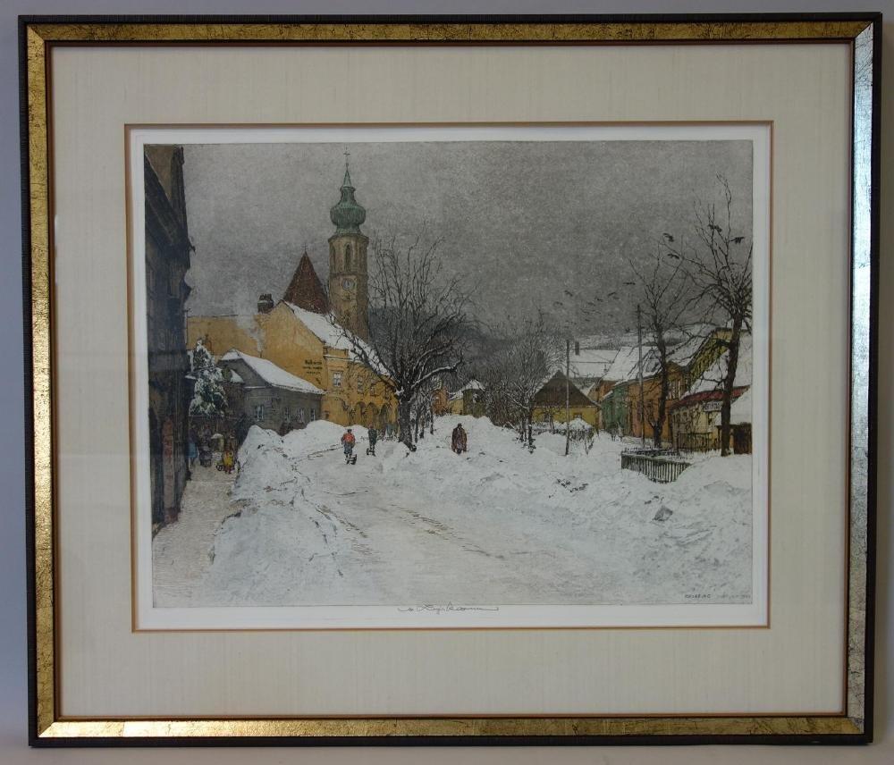 Luigi Kasimir (1881-1962) Grinzing in Winter - 2