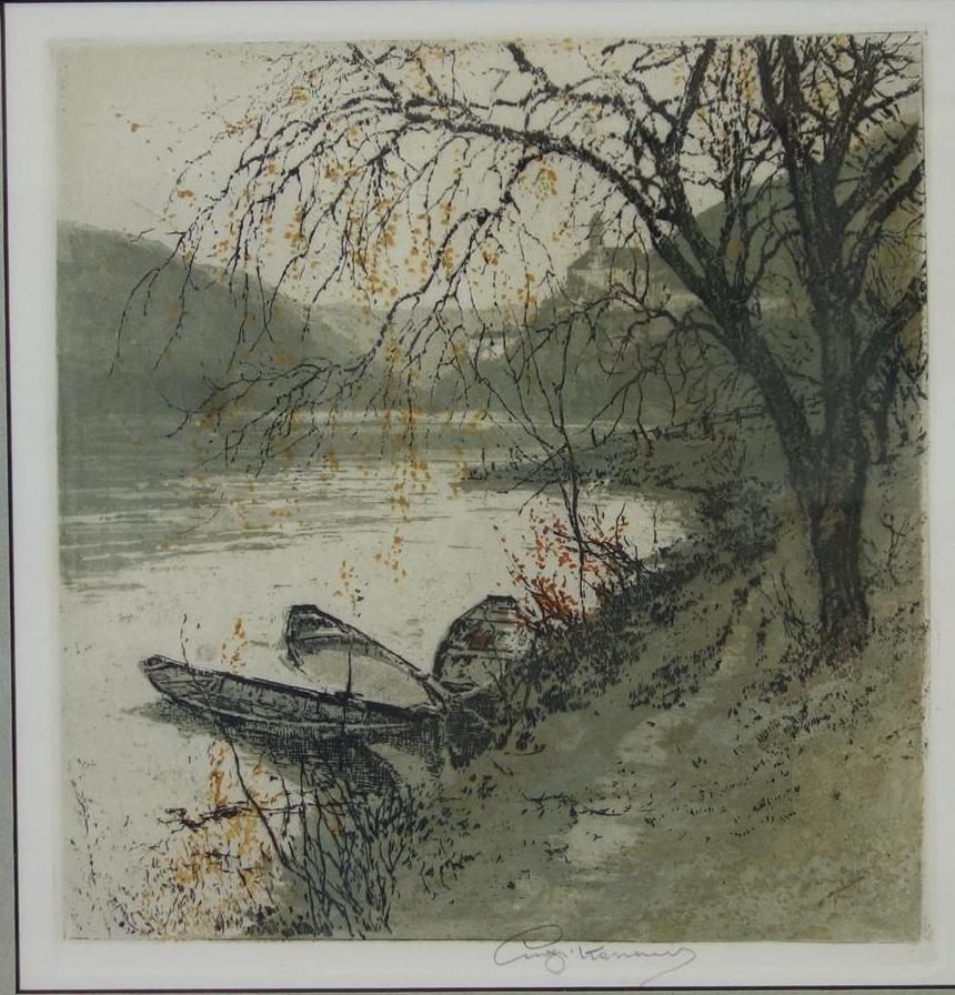 Luigi Kasimir, Schoenbuehel on the Danube - 2
