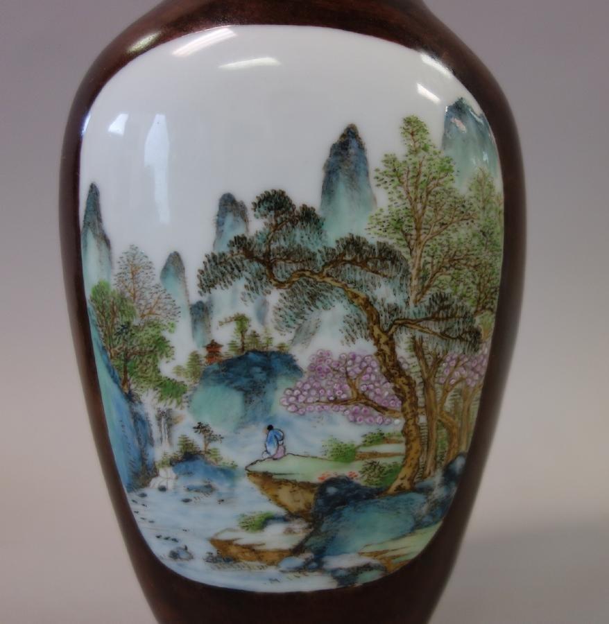 Chinese Porcelain Vase, Famille Verte Enamels - 2