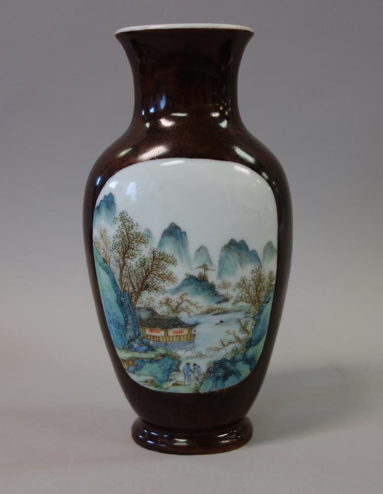 Chinese Porcelain Vase, Famille Verte Enamels - 3