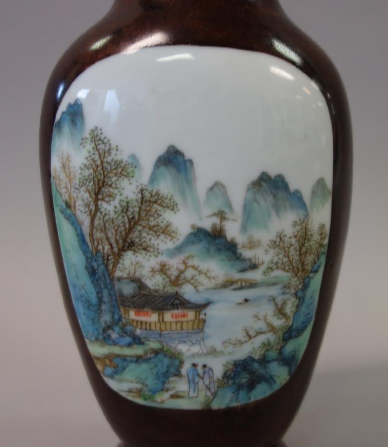 Chinese Porcelain Vase, Famille Verte Enamels - 4