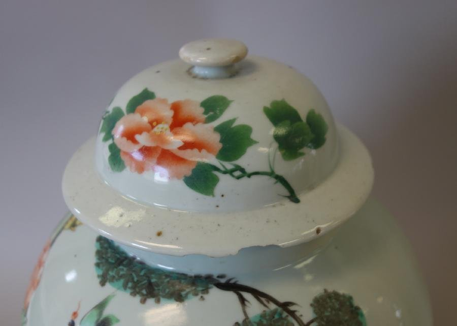 19thc Chinese Porcelain Lidded Jar - 6
