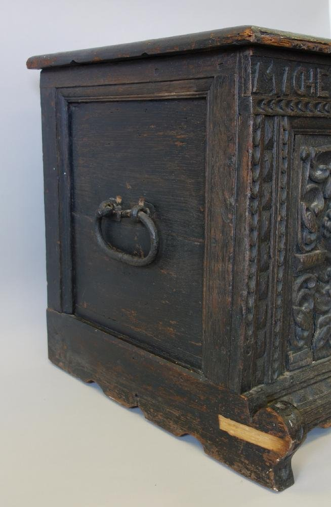 18thc Carved Child's Chest Michel Holste Anno 1747 - 6