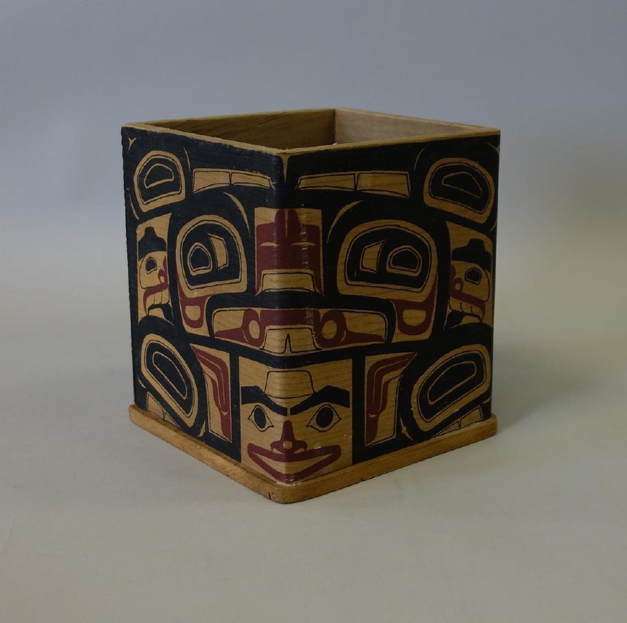 Northwest Coast Polychrome Bentwood Cedar Box