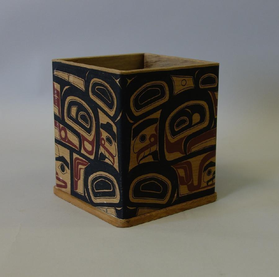 Northwest Coast Polychrome Bentwood Cedar Box - 2