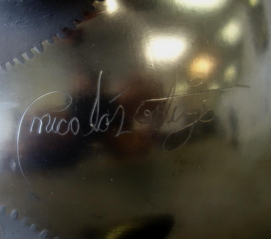 Nicolas Ortiz, Blackware Rabbit Olla Vase - 4