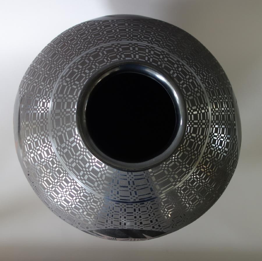 Lucia Soto, Casa Grandes Blackware & Brown Olla - 3
