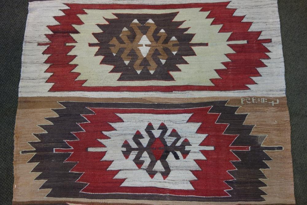 Wool Textile Rug, Native American Motif - 2