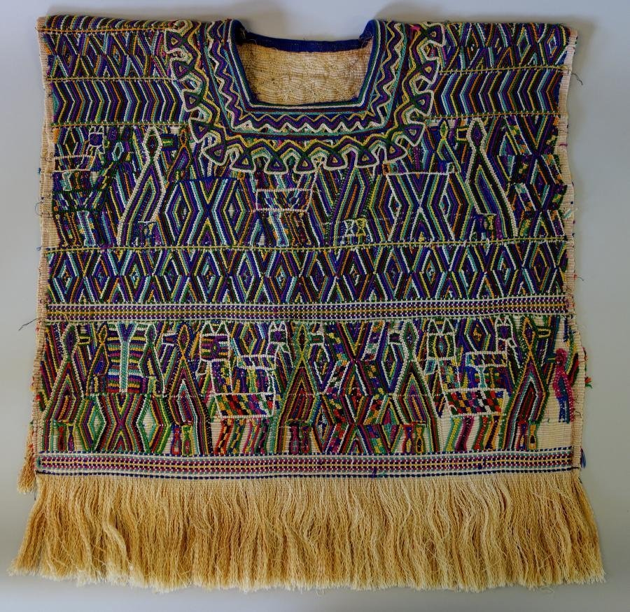 Vintage Traditional Guatemala Textile Huipil Tunic
