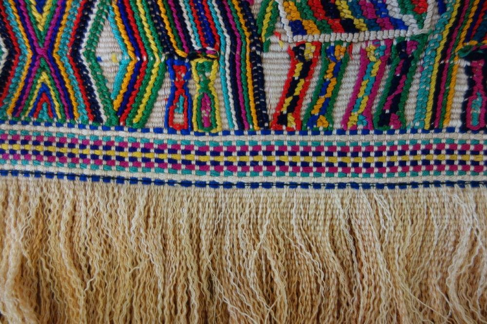 Vintage Traditional Guatemala Textile Huipil Tunic - 4