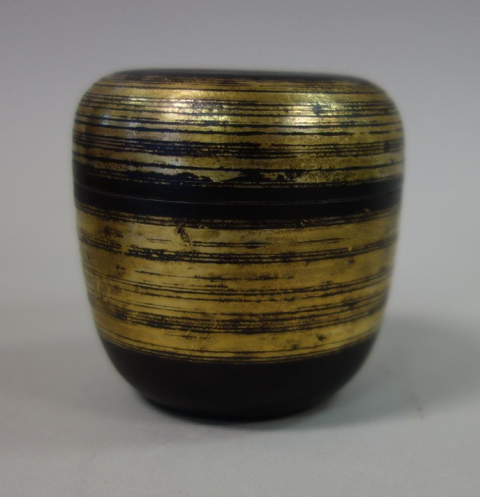 Sekiya Shiro Iron & Gold Natsume Tea Canister - 2