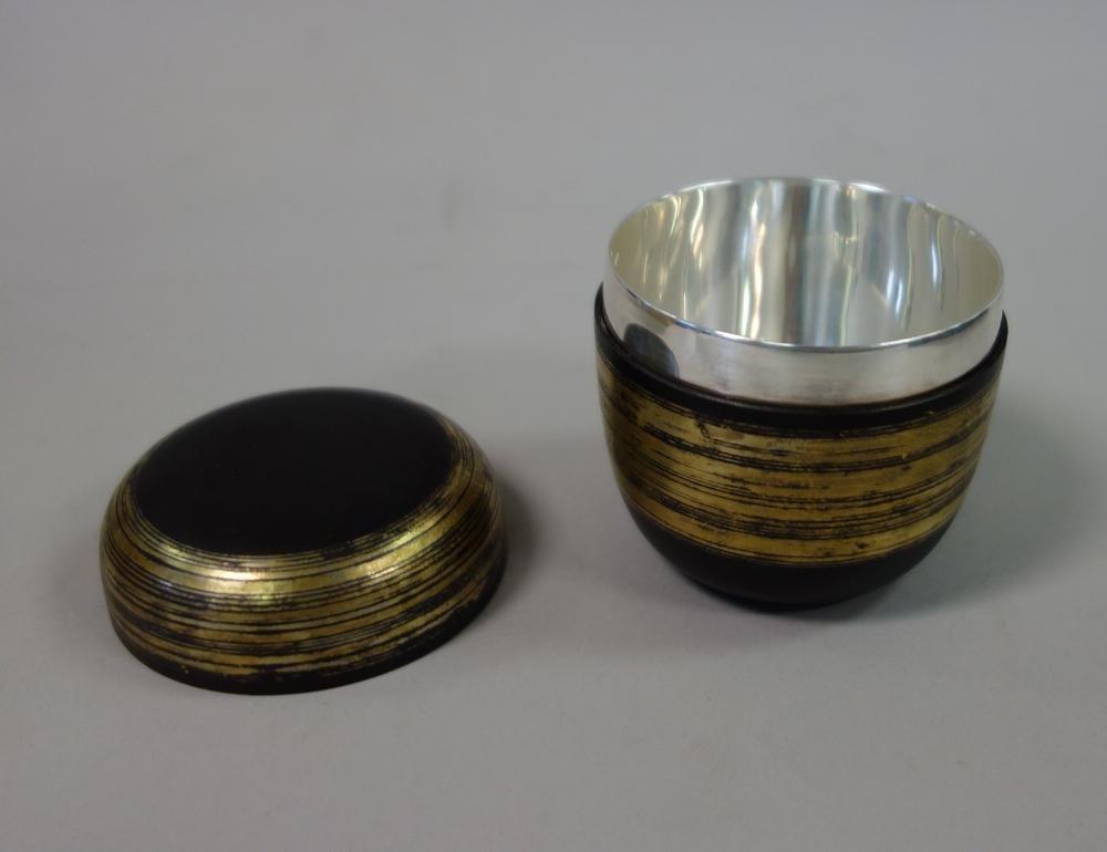 Sekiya Shiro Iron & Gold Natsume Tea Canister - 3