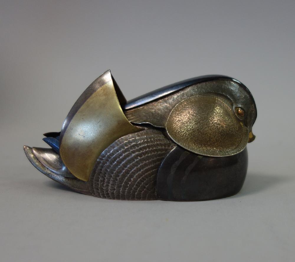 Unno Takeo (1905-1982) Art Deco Duck Formed Kogo