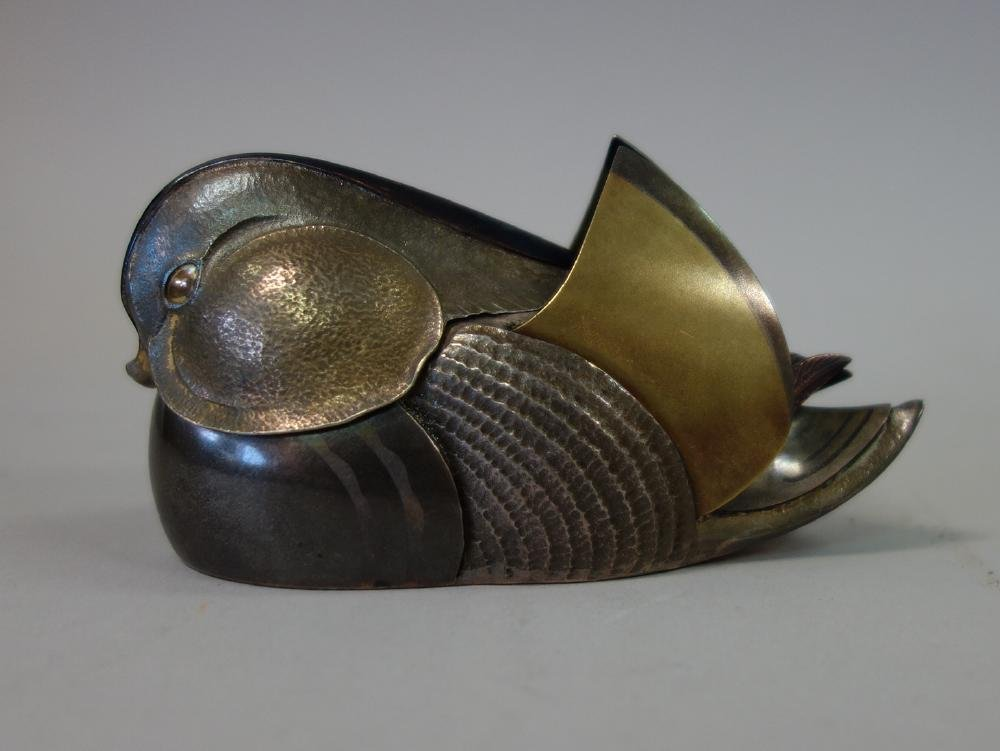 Unno Takeo (1905-1982) Art Deco Duck Formed Kogo - 2