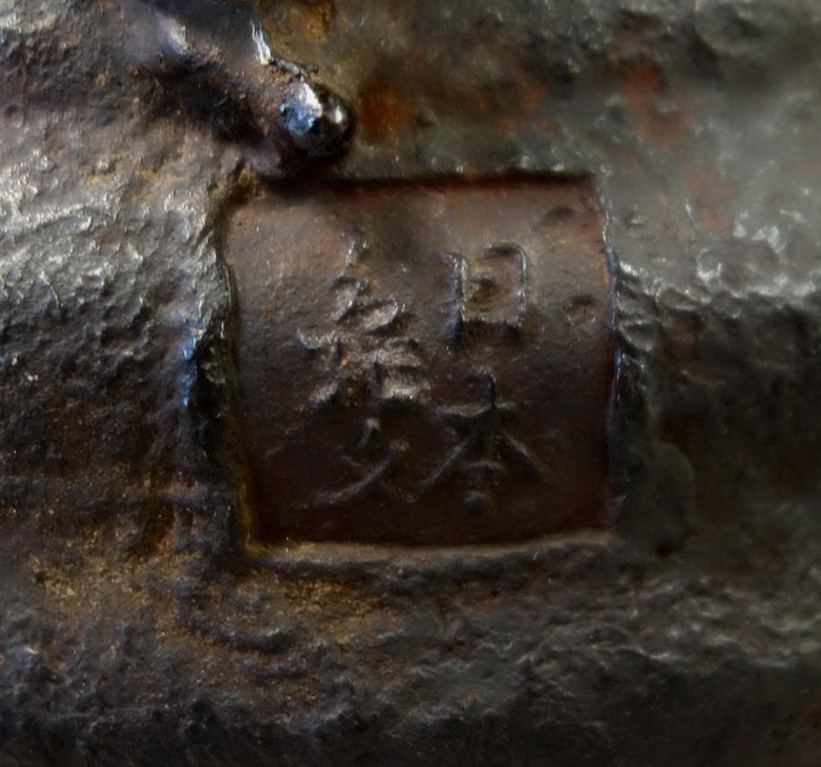 Kibundo Shohei, Iron & Bronze Teapot, Dragonfly - 5