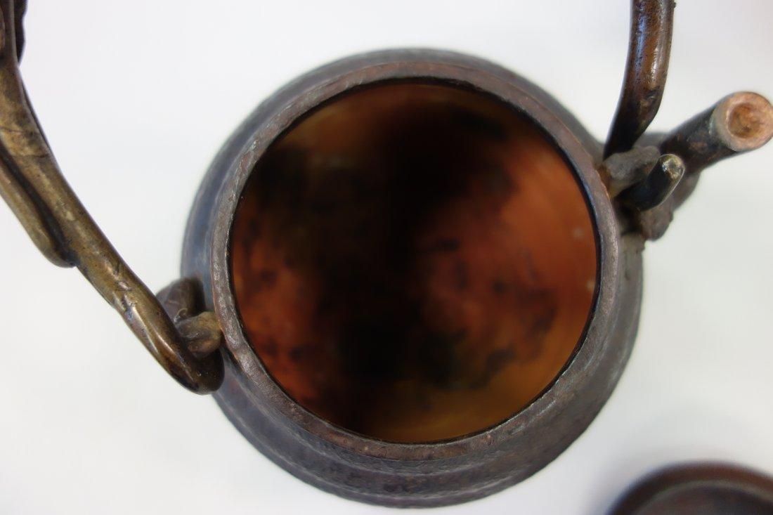 Kibundo Shohei, Iron & Bronze Teapot, Dragonfly - 8