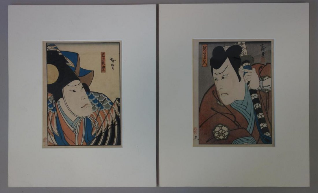 Konishi Hirosada (1819-1863) 2 Woodblocks