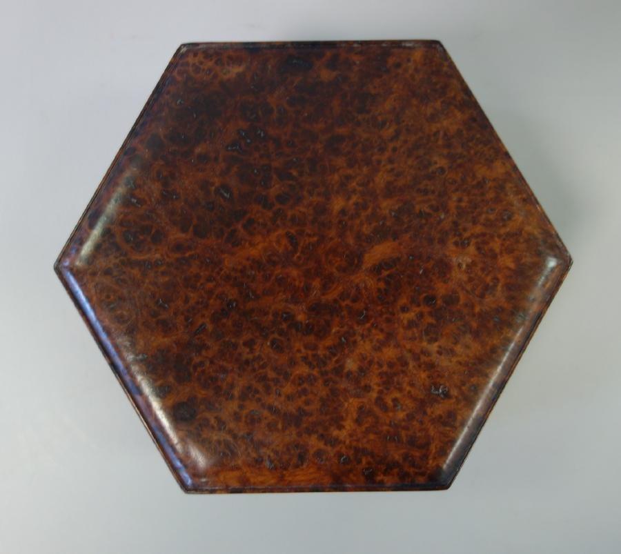 Hexagonal Burl Wood Box - 3