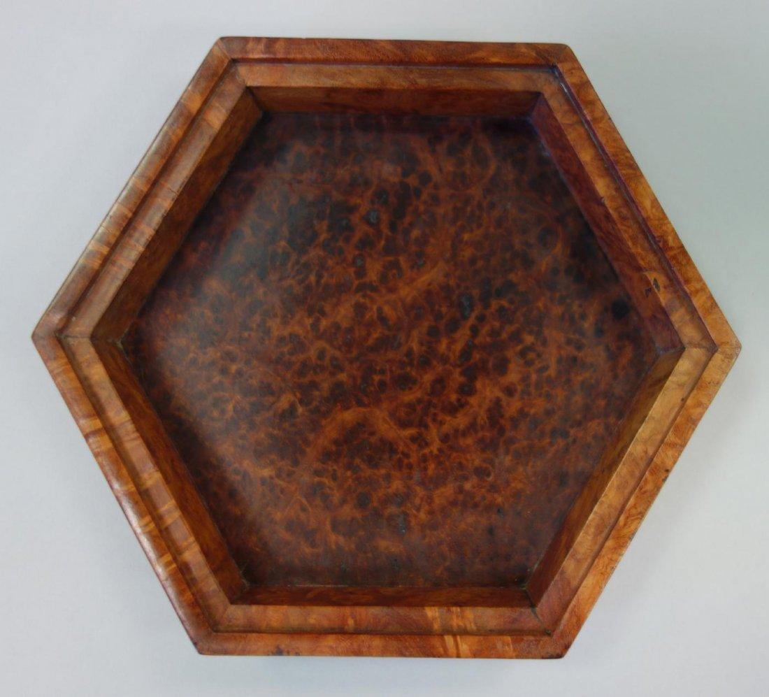 Hexagonal Burl Wood Box - 4