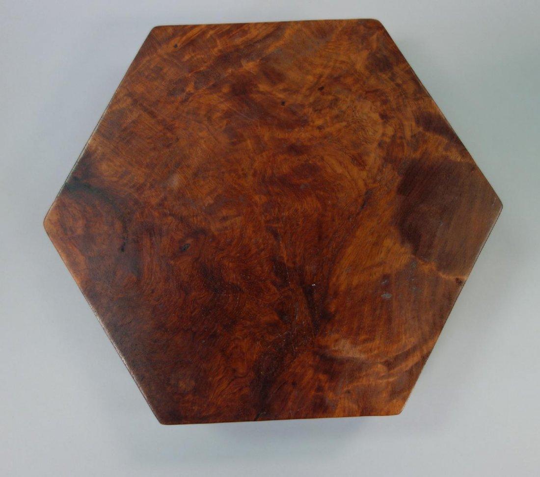 Hexagonal Burl Wood Box - 6