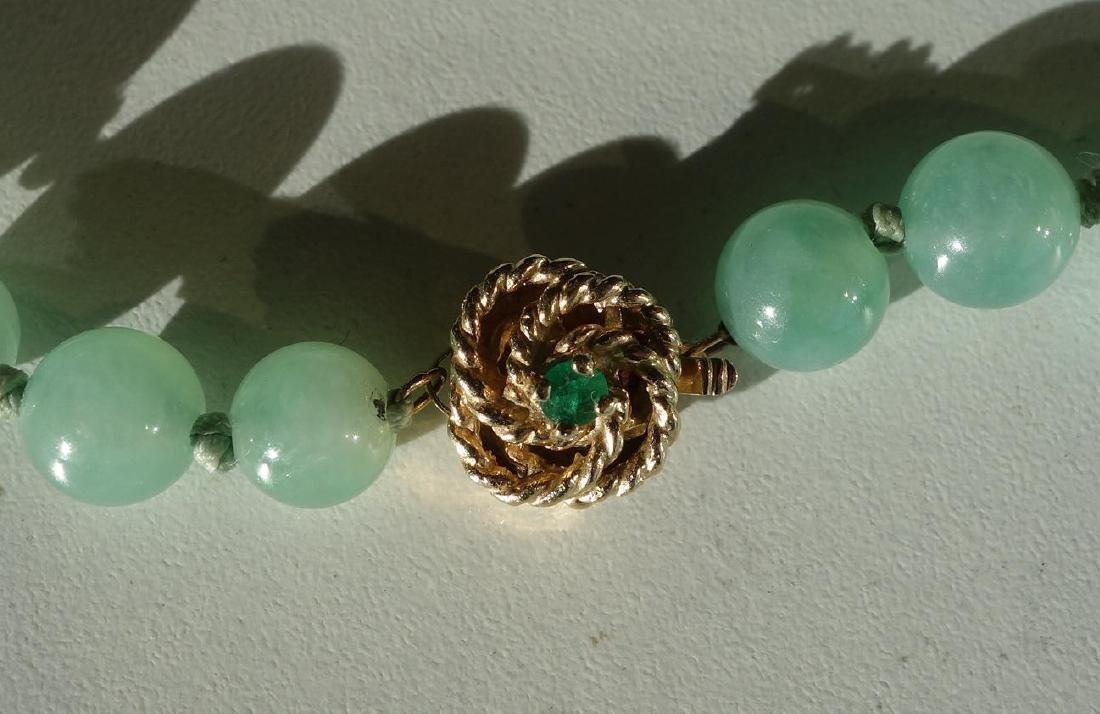 Fine Chinese Jadeite Jade Beaded Necklace - 2