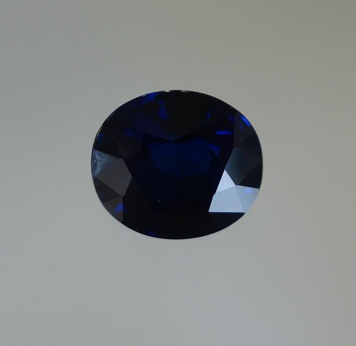 Burmese Blue Sapphire Gemstone, 10.92 Carats