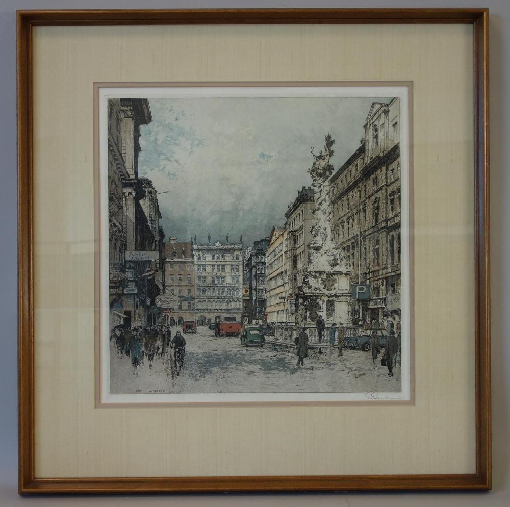 Josef Eidenberger (1899-1991) Wien am Graben