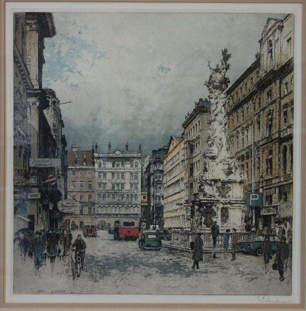 Josef Eidenberger (1899-1991) Wien am Graben - 2