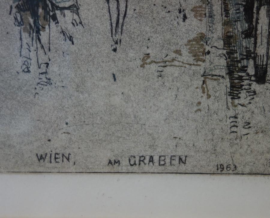 Josef Eidenberger (1899-1991) Wien am Graben - 4