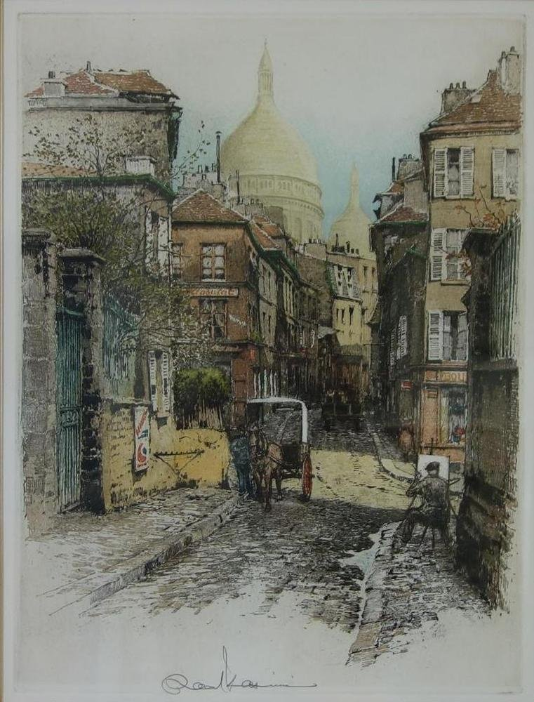 Robert Kasimir (1914-2002) Paris, Montmartre I - 2