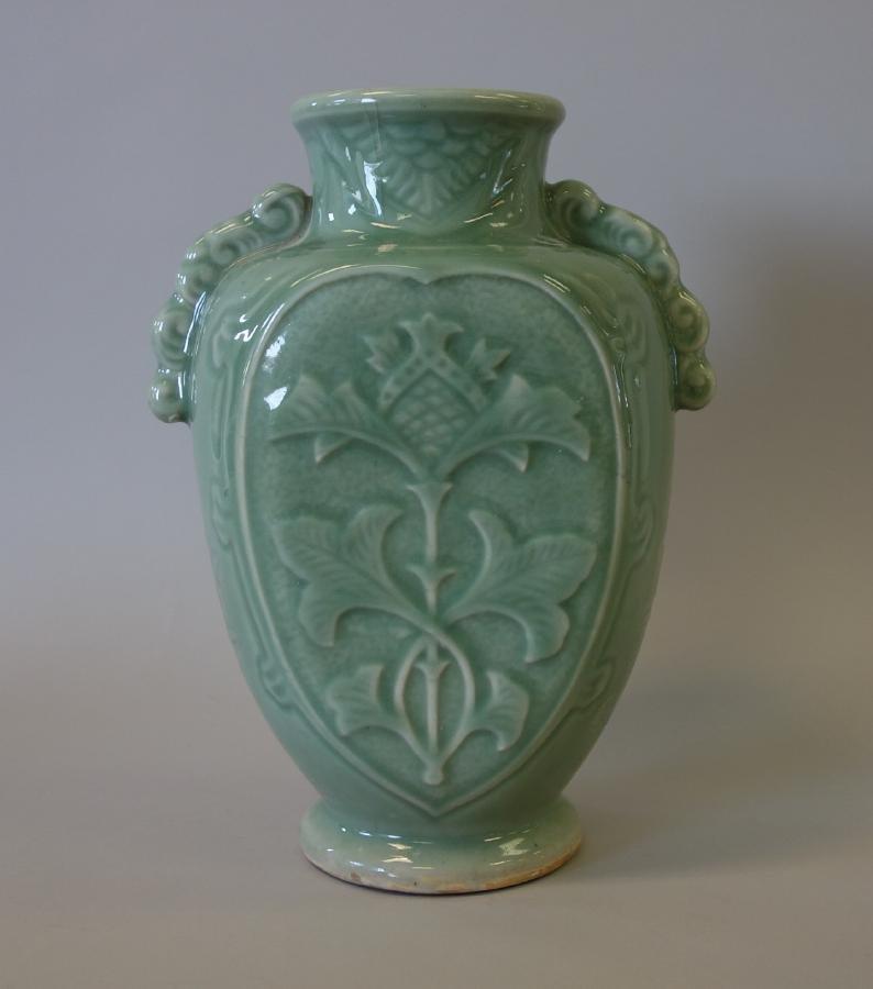 Chinese Celadon Porcelain Vase, Longquan Style - 3