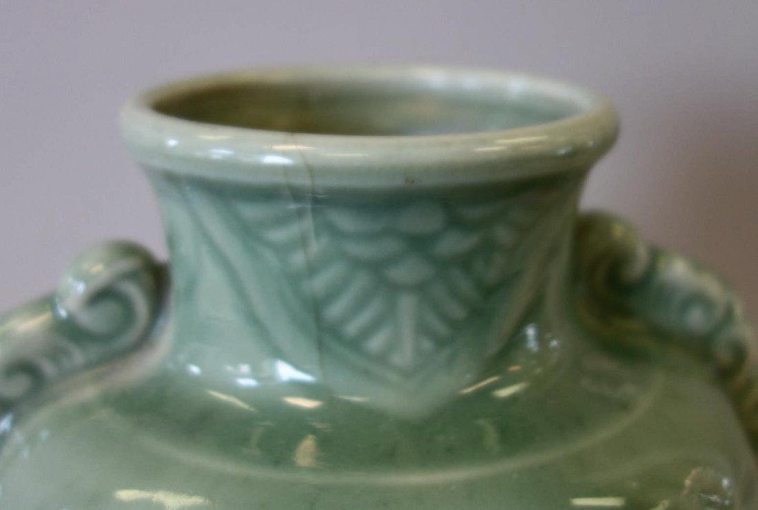 Chinese Celadon Porcelain Vase, Longquan Style - 4