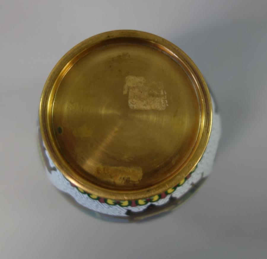 Chinese Cloisonne Enamel Baluster Formed Vase - 4
