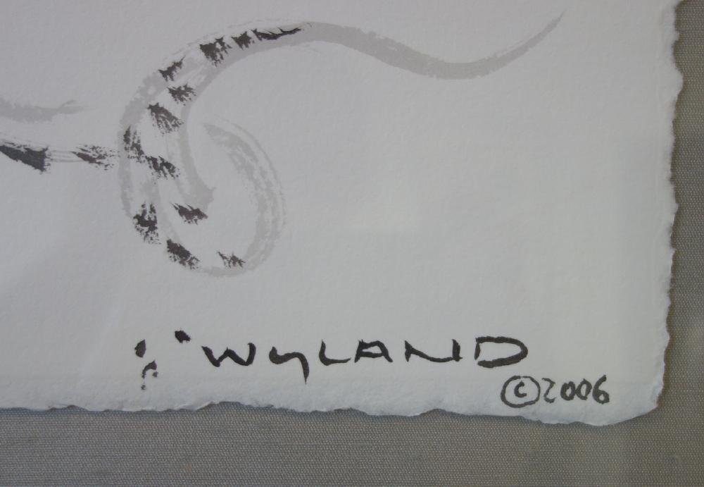 Robert Wyland (b-1956) Octopus, Sumi Ink Drawing - 3