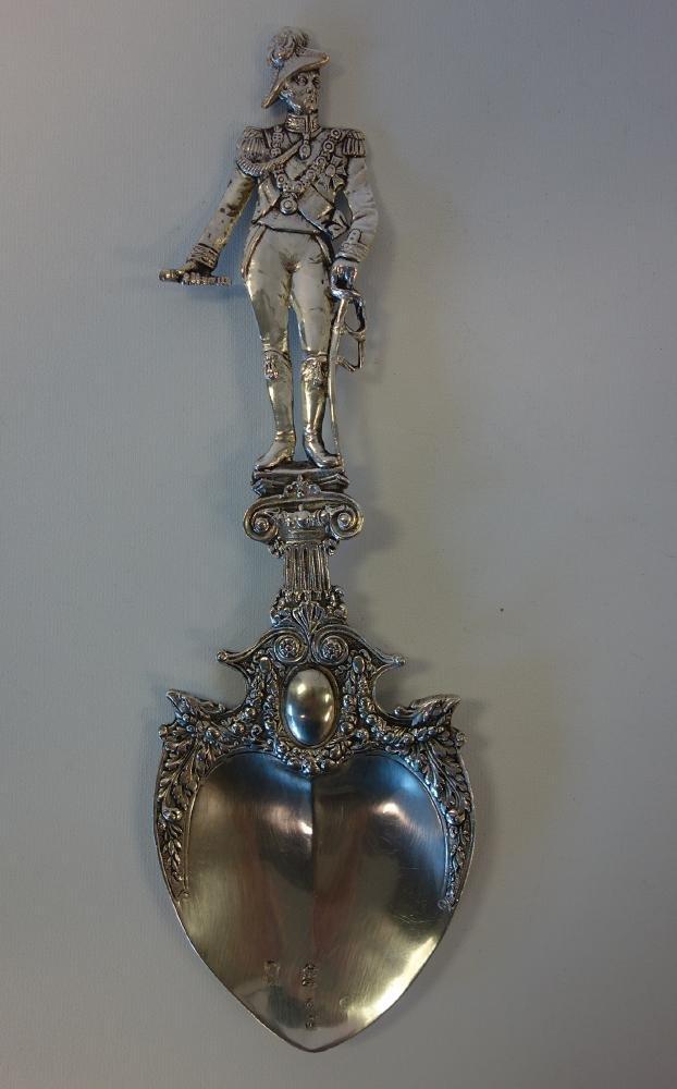 Hanau Silver Presentation Spoon Duke of Wellington - 2