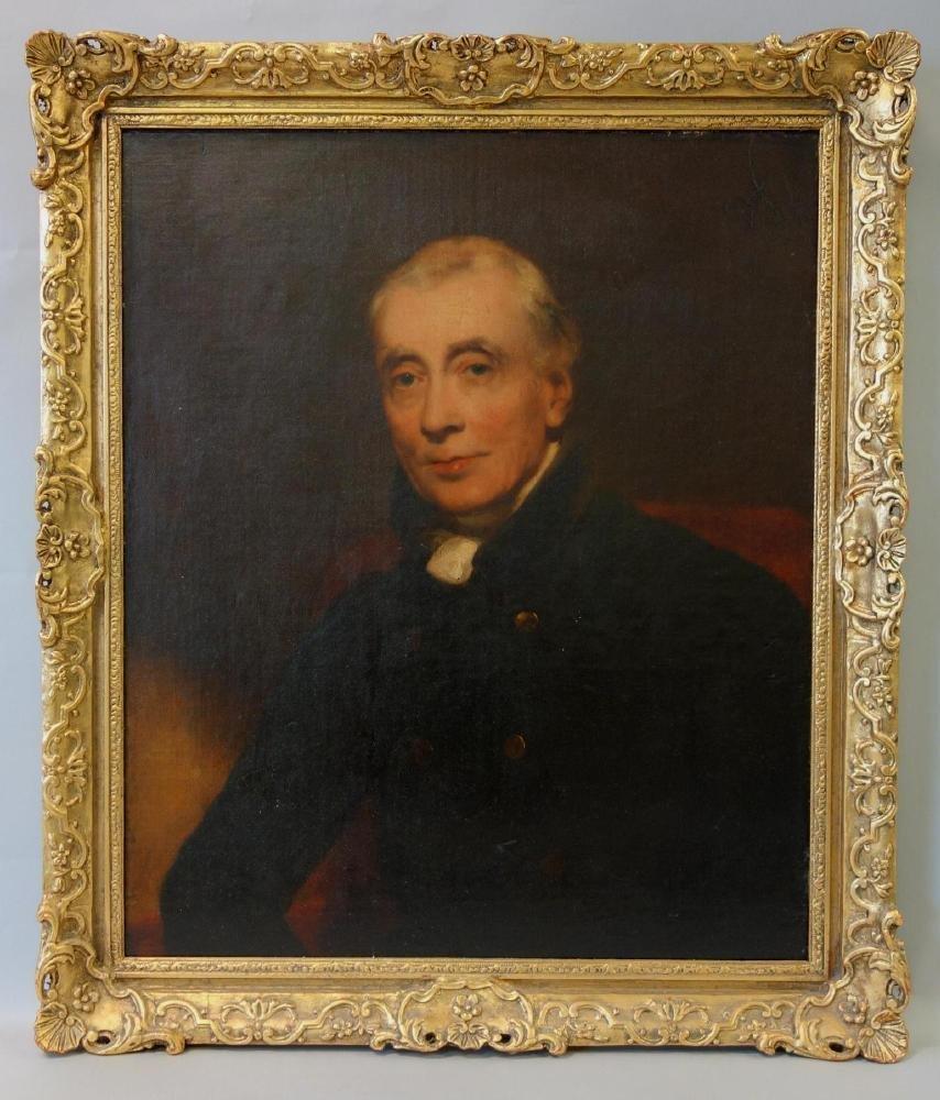 19thc English School, Portrait of a Gentleman