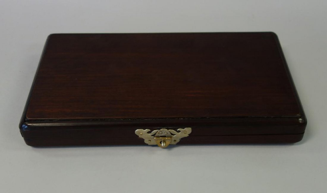Chinese Traveling Mahjong Set in Rosewood Case - 3