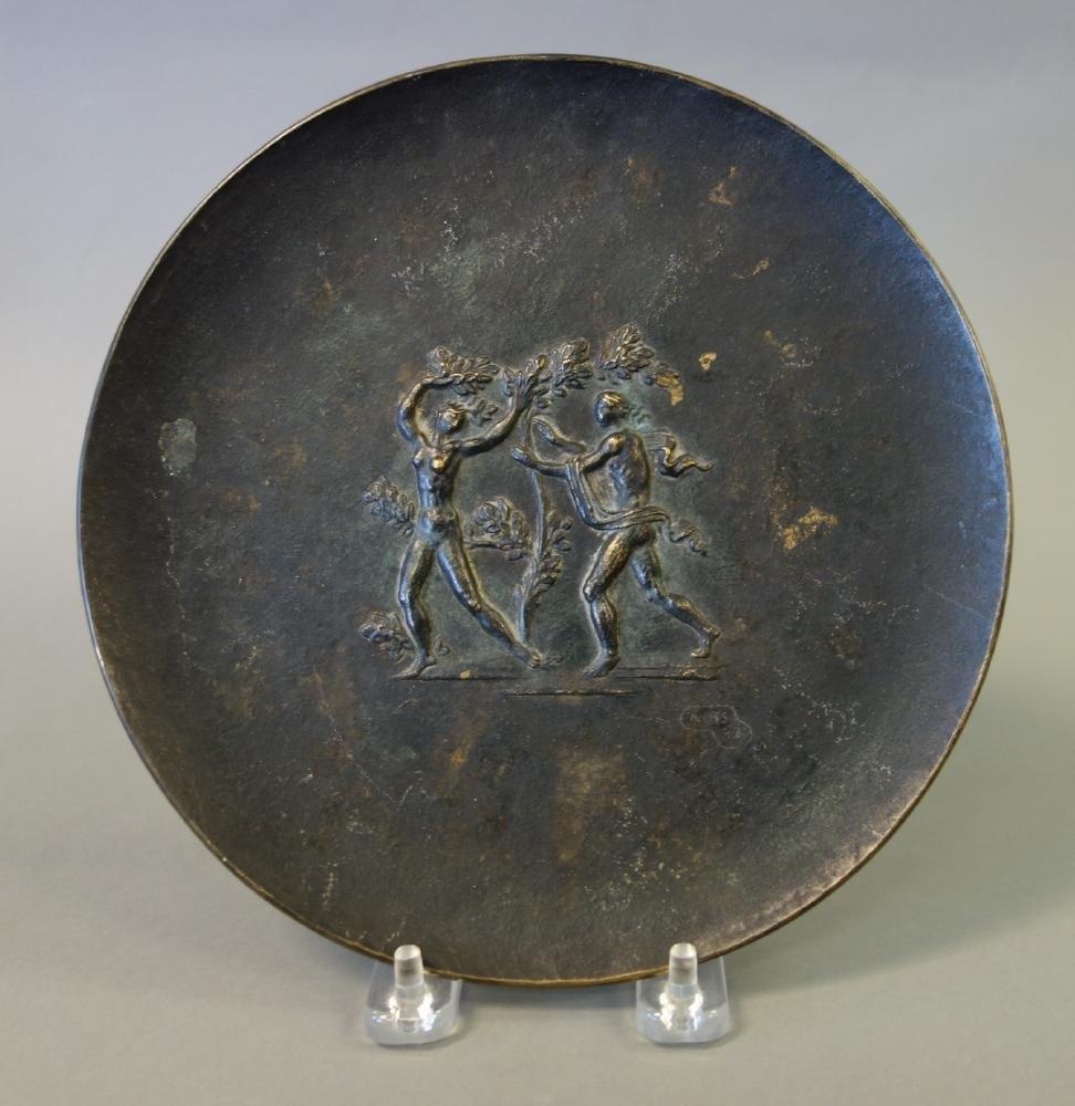 Fritz Nuss (1907-1999) Bronze Plaque Adam & Eve